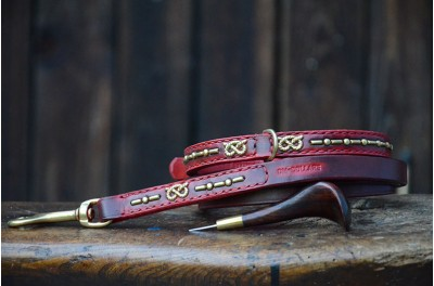 SBT collar and lead  - with patina